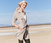 Women Trench Coat, Beige
