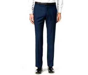 INC Mens Customizable Regular-Fit Navy Regular Pants, Navy