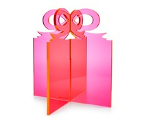 INC International Concepts Lucite Present, Bright Pink