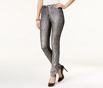Inc International Concepts Metallic Skinny Jeans, Silver