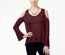 American Rag Cie Cold-Shoulder Peasant Top, Zinfandel