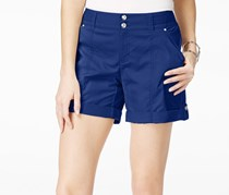 Women's Cuffed Twill Shorts, Goddess Blue