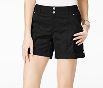 Inc International Concepts Cuffed Twill Shorts, Deep Black