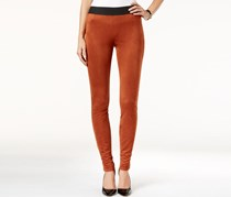 Inc Faux-Suede Skinny Leggings, Rawhide