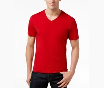 INC Kenny V-Neck Short-Sleeve T-Shirt, Chili Pepper
