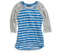 Girls Striped Raglan Top