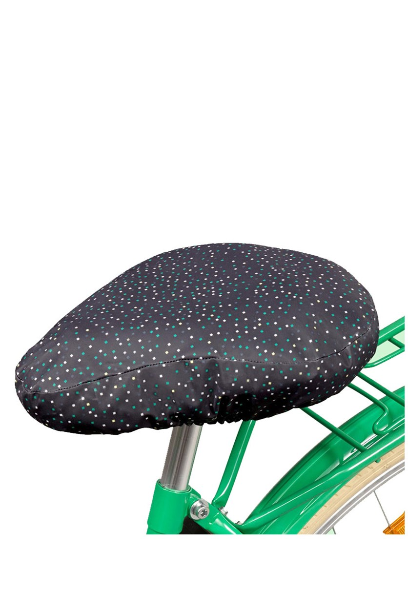 Bicycle Saddle Case, Black with Polka dot