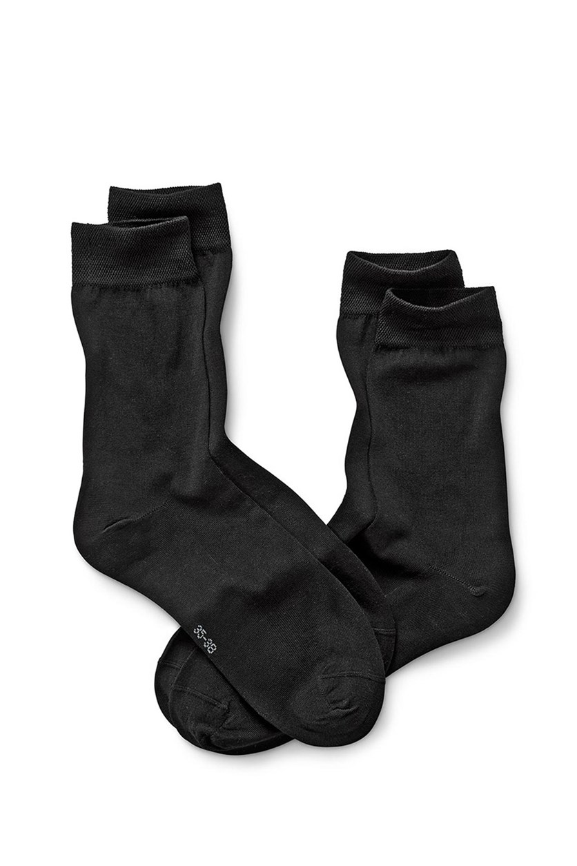Women's Socks, 2 Pairs, Black