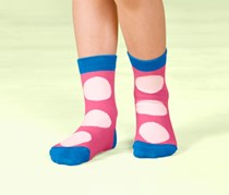 Girls Kids Socks, 5 Pairs, Multicolor