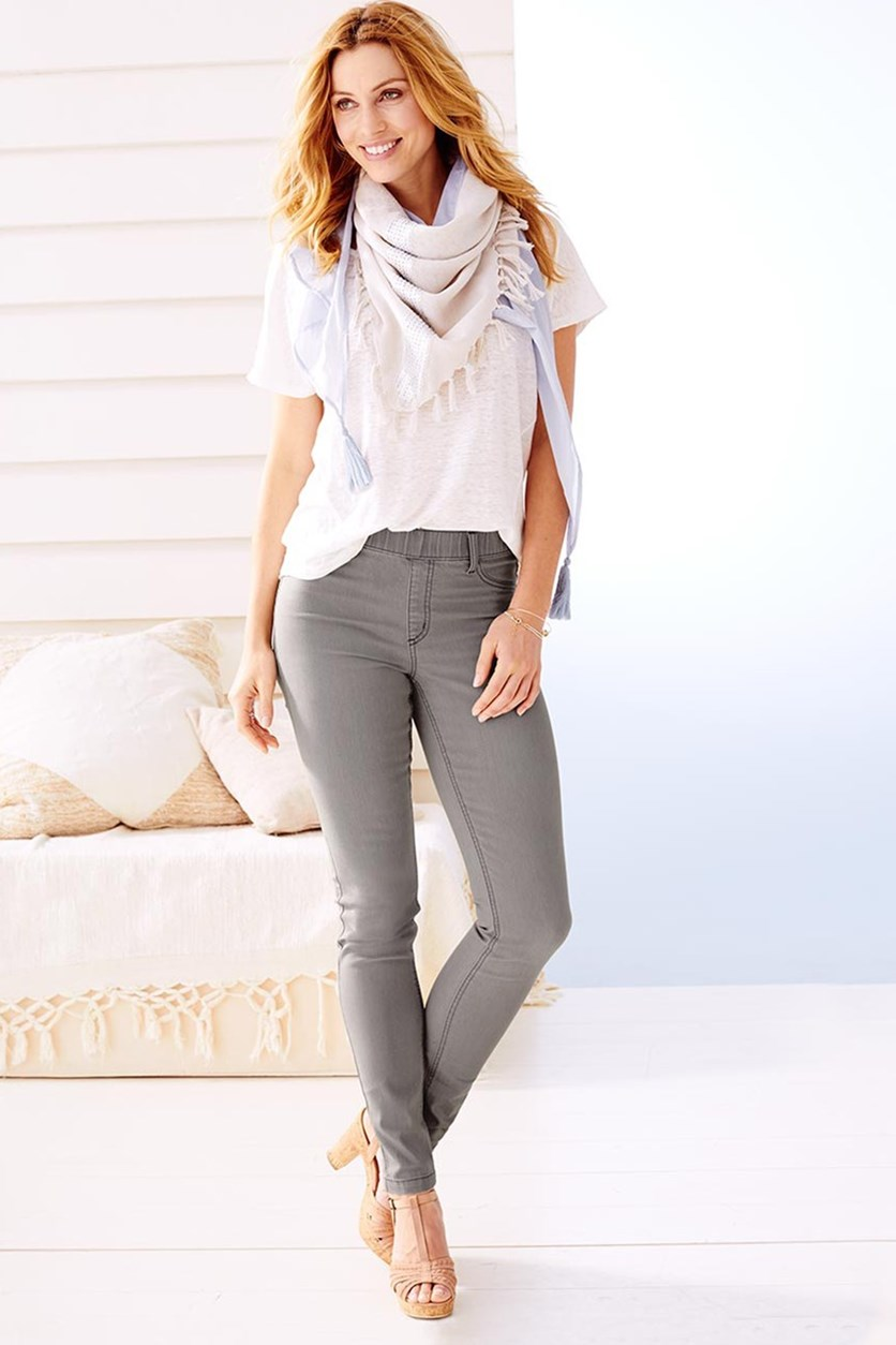 Women's Treggings, Light Gray