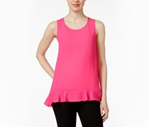 CeCe by Cynthia Steffe Sleeveless Ruffled Tank Top, Pink