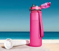 Drinking Bottle with Ice Pack, Pink
