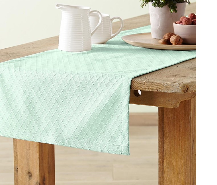 Table Runner, 180 x 40 cm, Mint