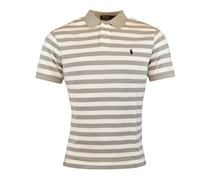 Polo Ralph Lauren Men Striped Pony Logo Tee,Soft Grey