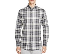 Ralph Lauren Flannel Plaid Slim Fit Shirt, Slate/Grey
