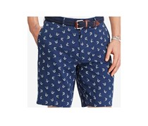 Ralph Lauren Men's Big & Tall Classic-Fit Marlin Print Shorts, Navy