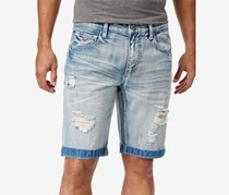 INC International Concepts Mens Ripped Jeans Short, Light Wash