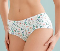 Women's Panty, Set of 2, White floral