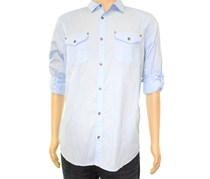 International Concepts Men's Harrison Dual-pocket Shirt, Pale Ink Blue