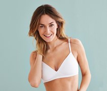 Women's Comfortable Soft Cup Bra, White