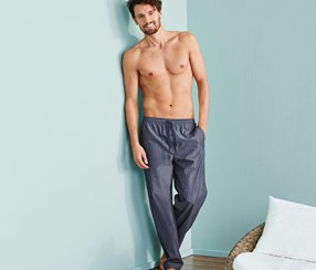 Men's Sleep, Relaxpants, Navy blue