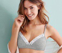 Women's Underwired Bra, Gray mottled with dots