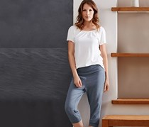 Women's Capri Pants, Blue gray