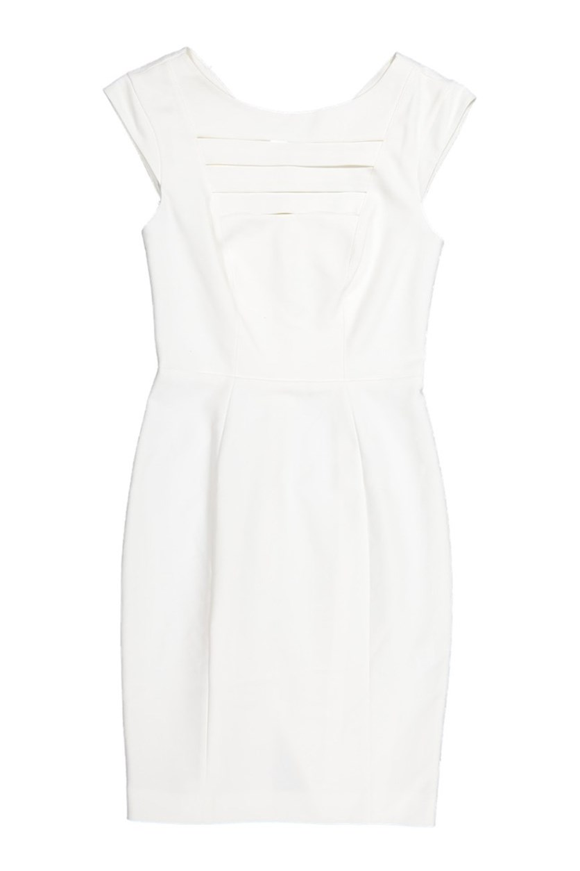 Estelle Stretch Cap Sleeve Dress, White