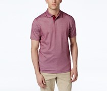 Tasso Elba Mens Polo, Cherry Plum