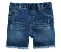 First Impressions Baby Boys Distressed Denim Shorts, Authentic Wash