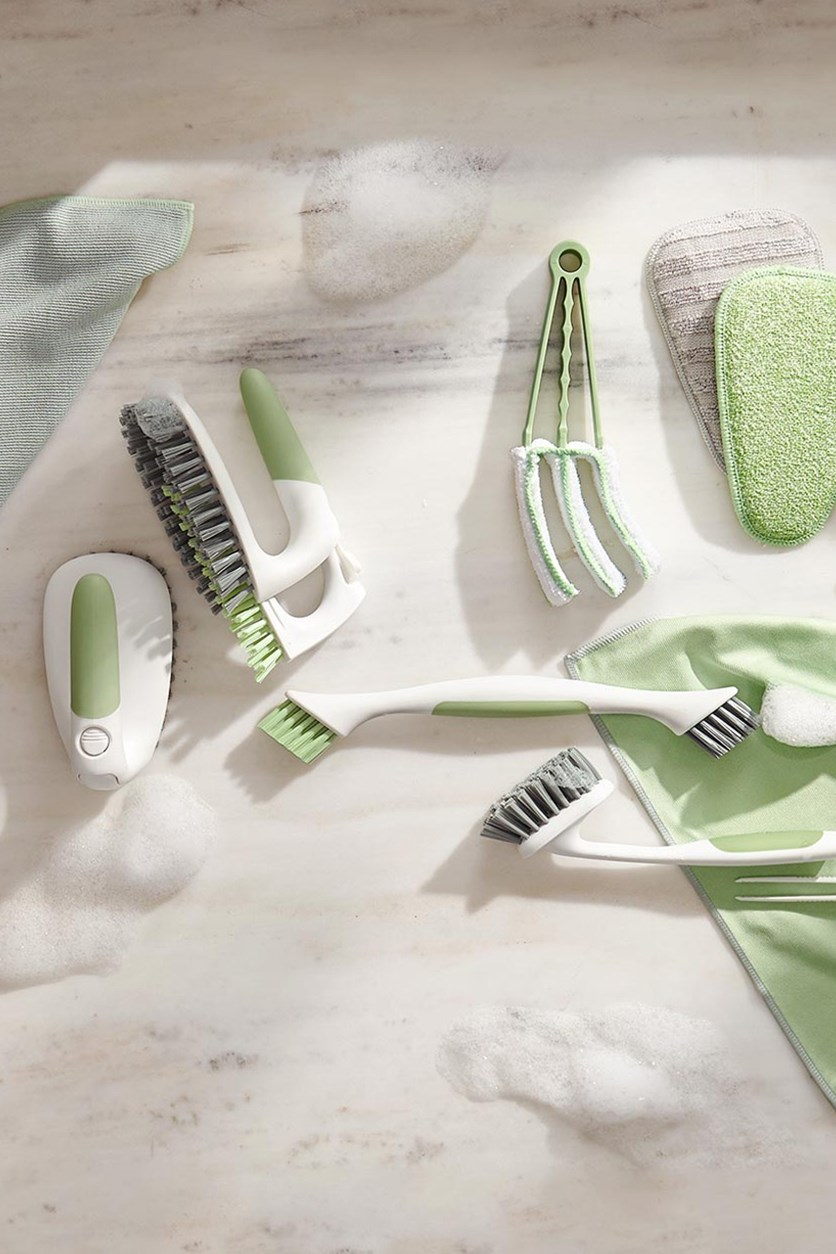 Joint cleaning brush soft/hard, White/Green