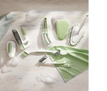 Cleaning brush with exchangable covers, White/Green