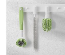 Cleaning Brushes with detacable heads, White/Green