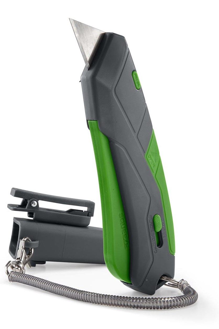 Safety Cutter, Gray/Green
