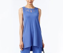 Alfani Sleeveless Applique Tunic, Alf Pery Blue