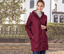 Women's Oily Raincoat, Bordeaux
