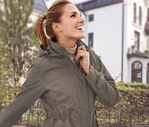 Women 3 in 1 all weather Jacket, Brown