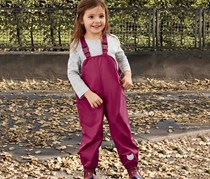 Girls Kids Thermo Overtrousers, Berry