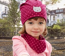 Girls Toddlers, Cap and Neckerchief, Berry