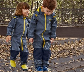 Toddlers Softshell Tulum, Navy Blue