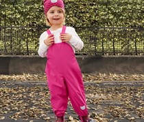 Girls Kids Overtrousers, Dark Pink