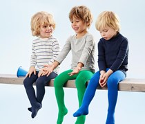 Boys Kids, 3 pairs of Tights, Green/Navy/Blue