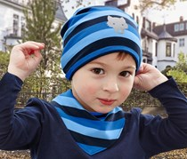 Boys Toodlers, Cap and Neckerchief, Blue