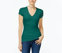 Inc International Concepts Ribbed V-Neck Top, Indian Teal