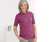 Women's Poloshirt, Berry
