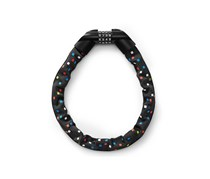 Steel-Chain Bicycle Lock, Black with print