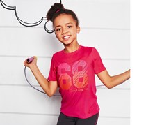 Girls Kids, Functional Shirt,  Dark Pink