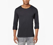 International Concepts Mens Long-Sleeve T-Shirt, Dark Lead