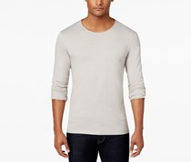 Inc Mens International Concepts Long-sleeve T-shirt, Smoked Silver