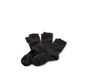 Women's Socks, Set of 3, Black